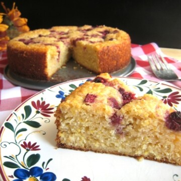 A close up of Cornmeal breakfast cake