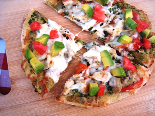 Basil Chicken Pizza