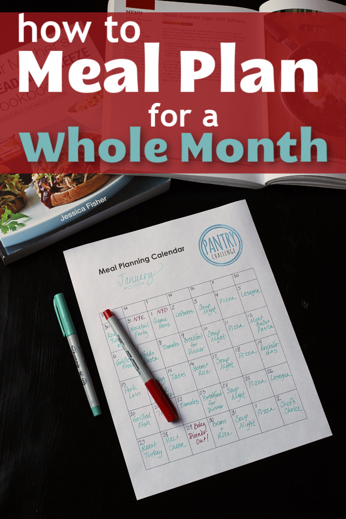 how to meal plan for a whole month