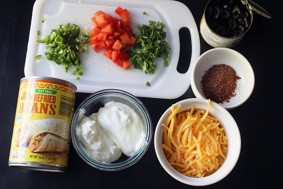 ingredients for seven layer dip
