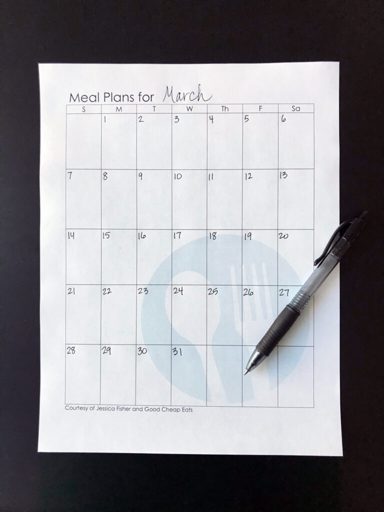 calendar with dates
