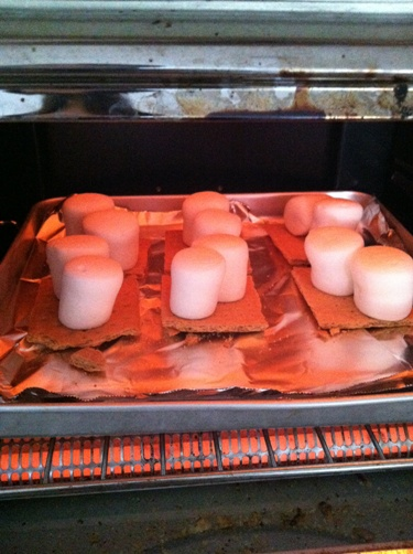 smores in toaster oven