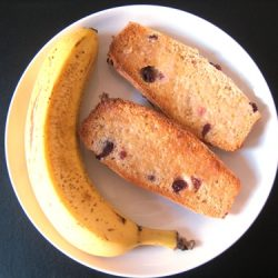 energy bars, split and toasted, with butter