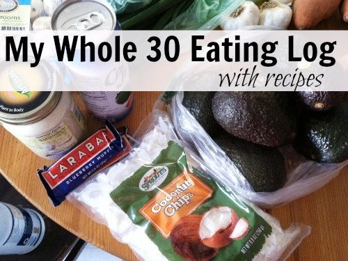 Whole 30 Eating Log | Whole 30 Recipes | Whole 30 Meal Plan