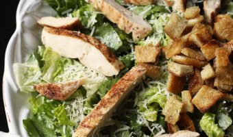 platter of chicken caesar salad