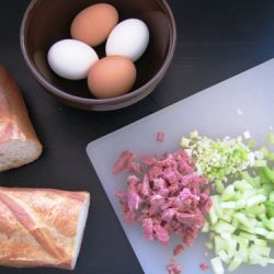 Ham and Egg Salad ingredients