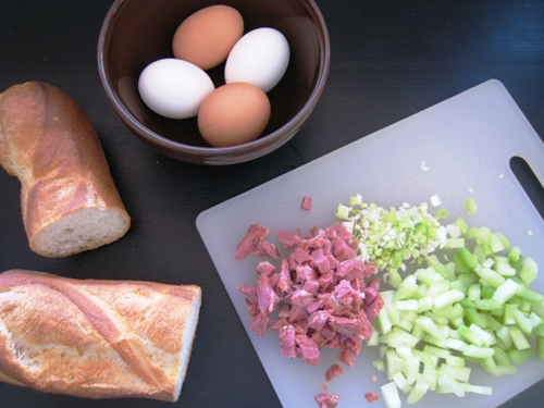 Ham and Egg Salad ingredients