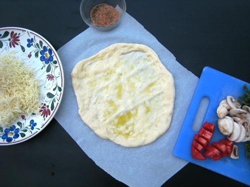 Kale pizza ingredients