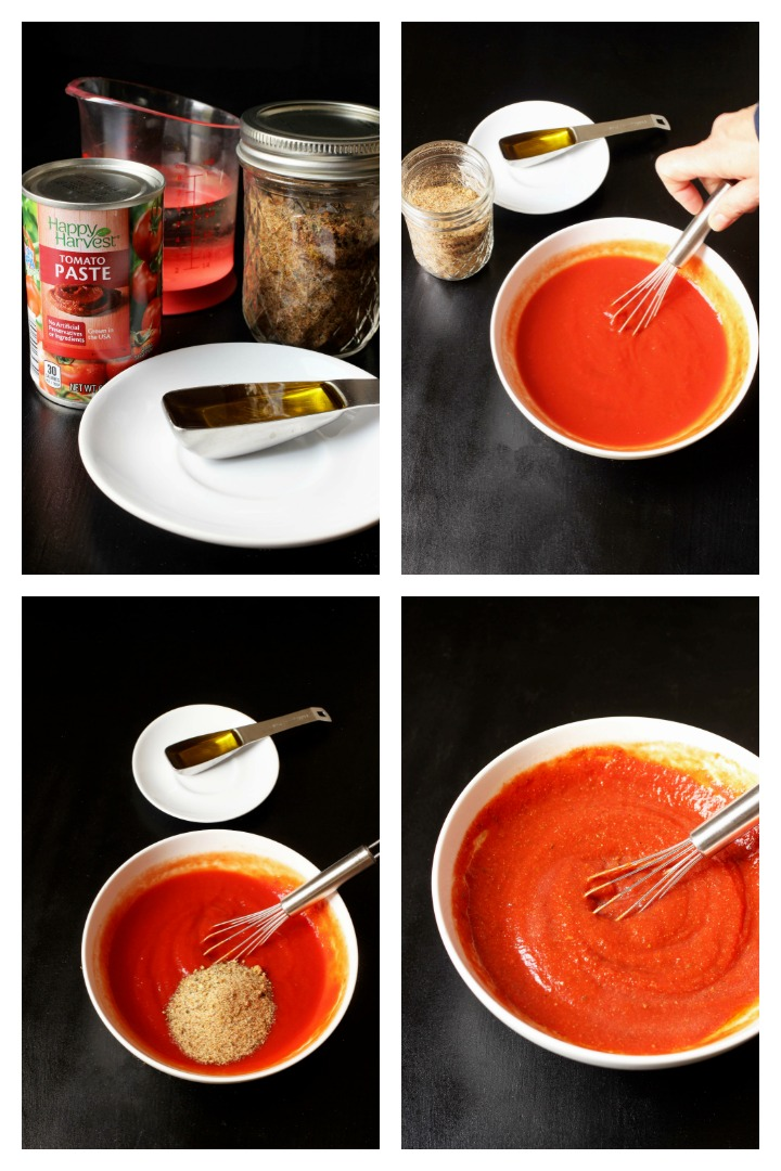 step by step photos of mixing the sauce