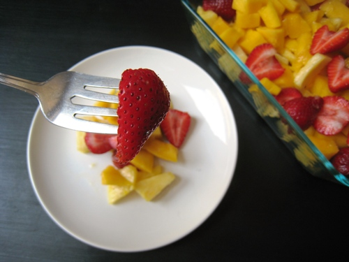 Pineapple Mango Strawberry Salad