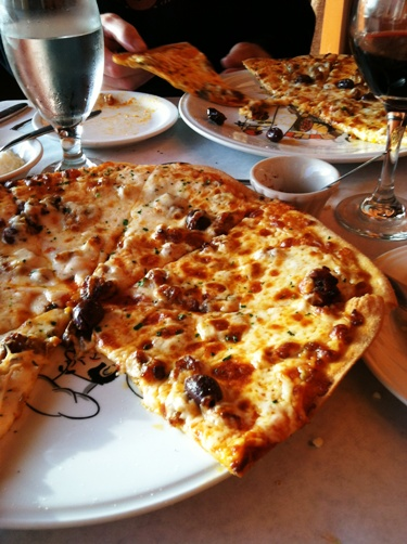 pizza at rosina's
