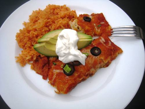 Chicken and Chile Enchiladas