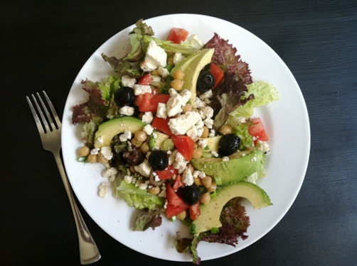 go to salad full plate