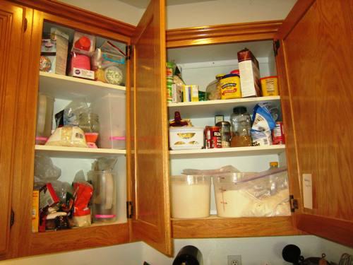 baking cupboard before challenge