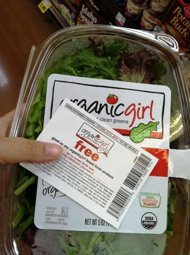 free salad organic girl