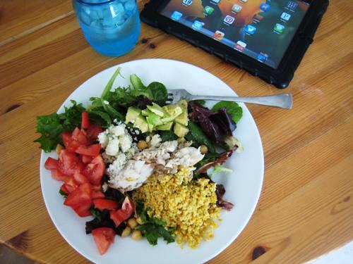 salad with sea bass
