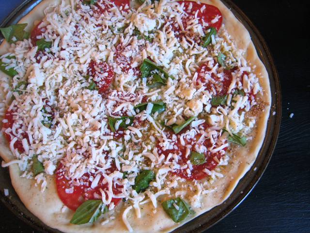 Margherita Pizza unbaked