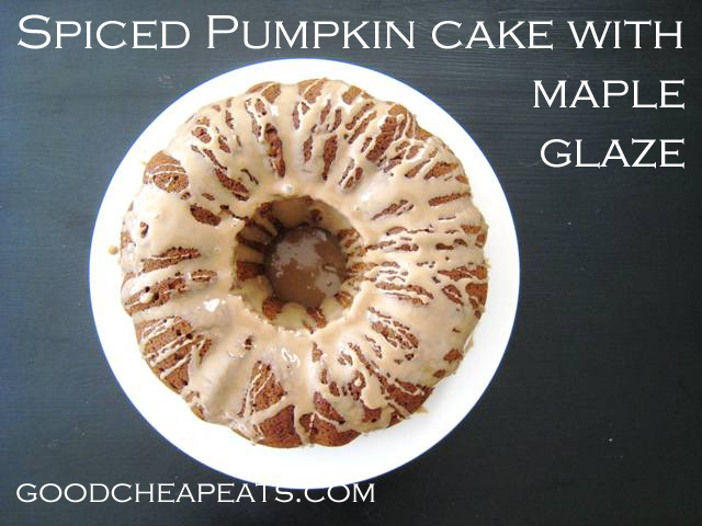 Spiced Pumpkin Cake - Good Cheap Eats