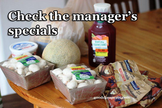 Check the Manager's Specials to Save Money | Good Cheap Eats