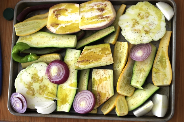 eggplant and squash to roast