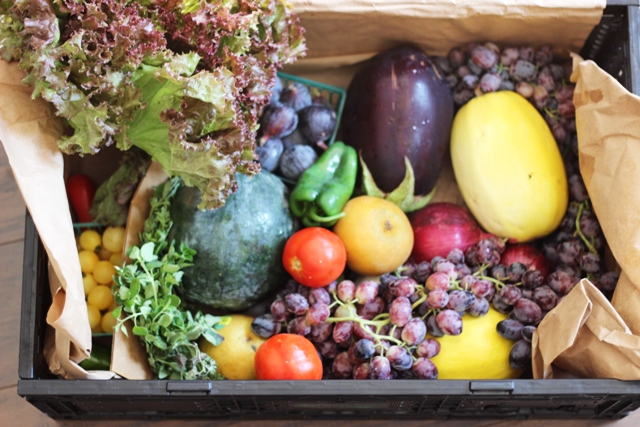 A produce box deliver