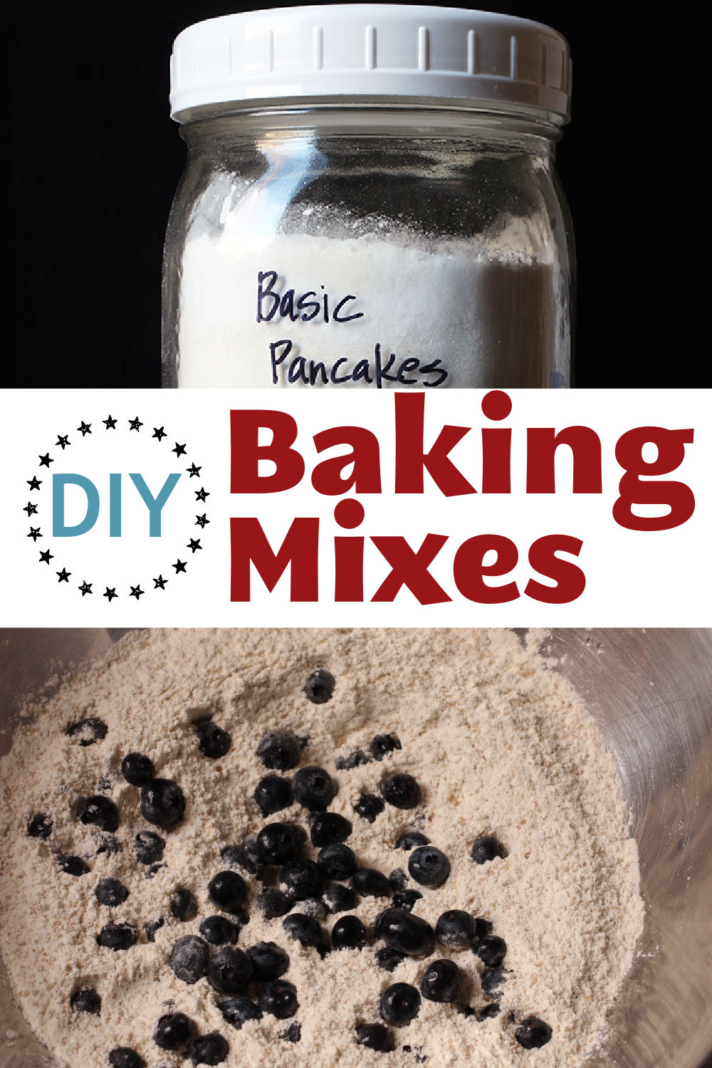 DIY Baking Mixes Pinnable image