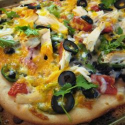 Black Bean Burrito Pizza with Chicken