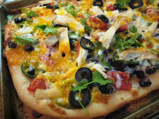 Black Bean Burrito Pizza with Chicken