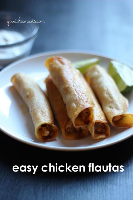 Easy Chicken Flautas   Good Cheap Eats