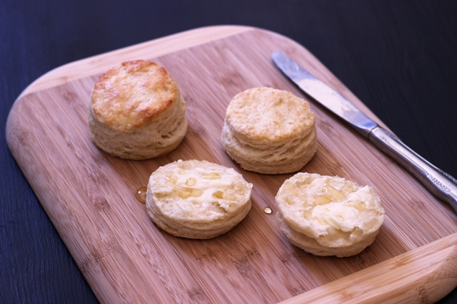 Such is the case with these flaky buttermilk biscuits.