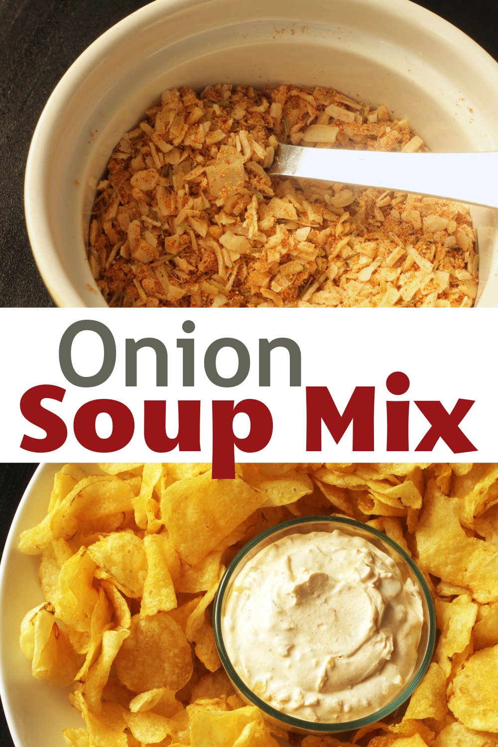 pinnable image of homemade onion soup mix