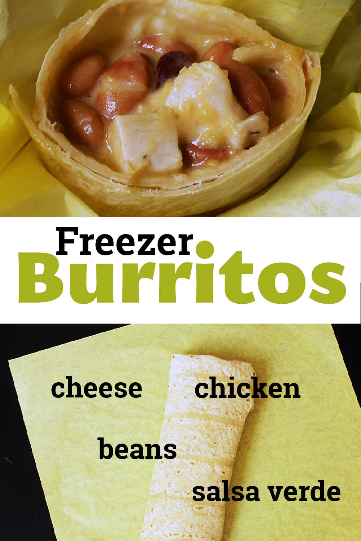 pinnable image of freezer burritos