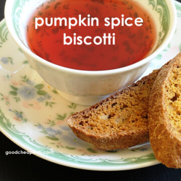 A cup of tea with Pumpkin biscotti