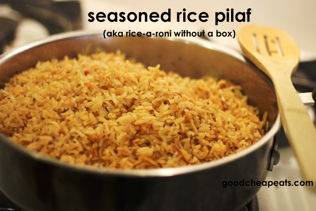 Seasoned Rice Pilaf or Rice-a-Roni Without the Box