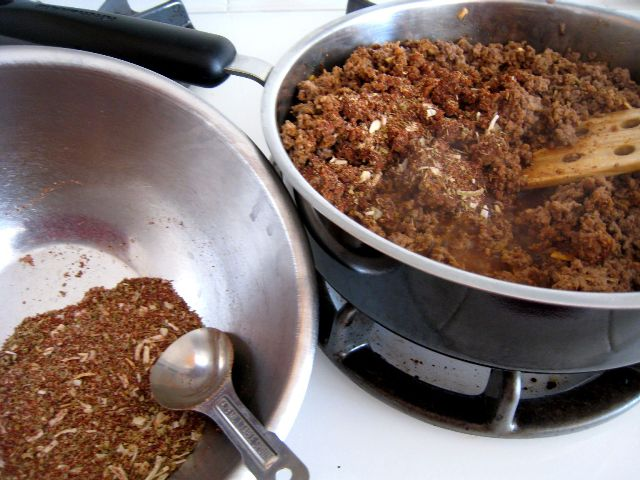 Taco Seasoning Mix and Meat