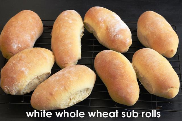 White Whole Wheat Sub Rolls copy