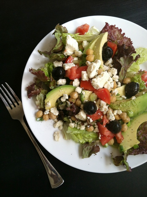 A plate of Salad, with Vinaigrette