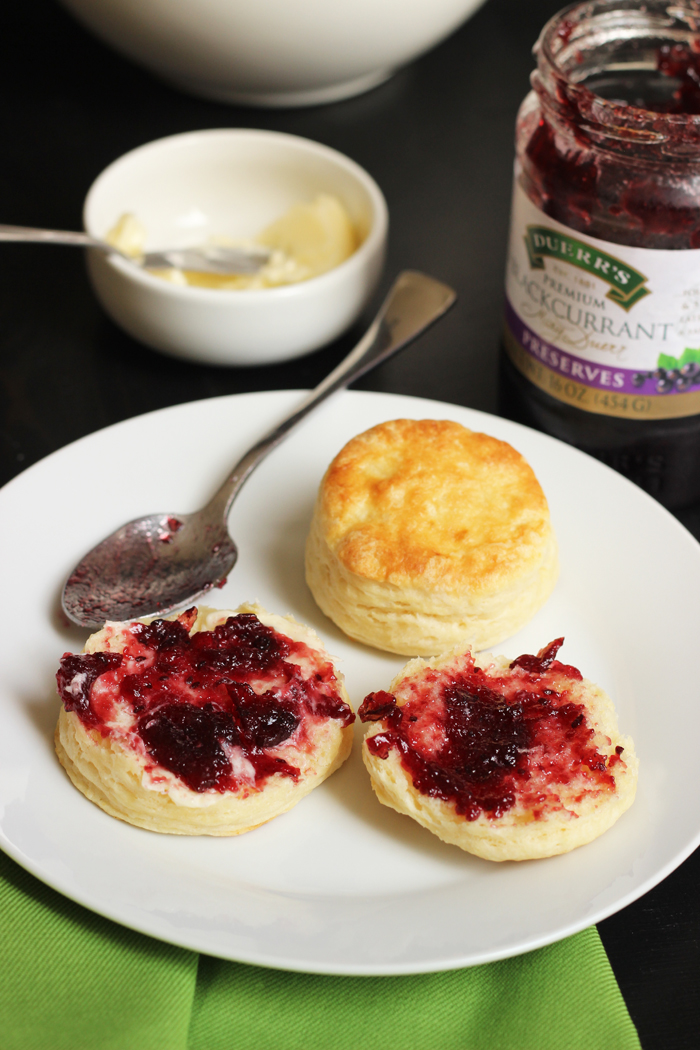 biscuits with jam on a plate