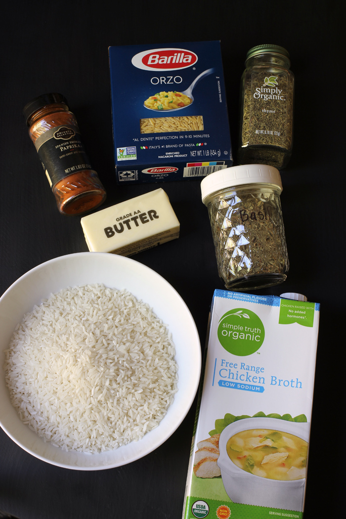 ingredients for homemade rice a roni