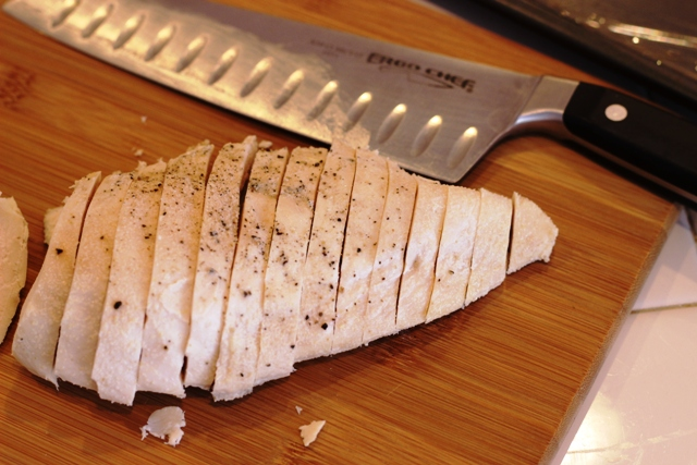 sliced chicken for freezing