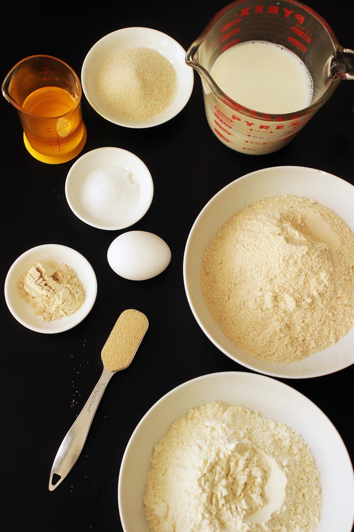 ingredients for bread making