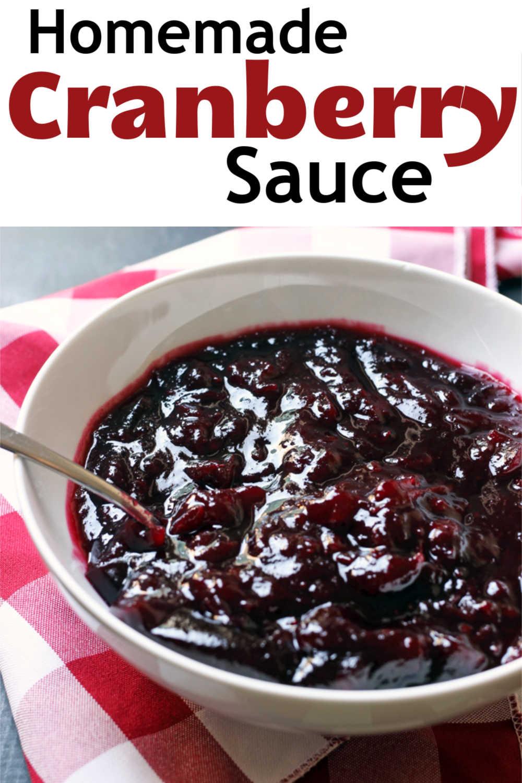 A bowl of cranberry sauce