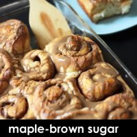 A tray of Maple Brown Sugar  Cinnamon Rolls