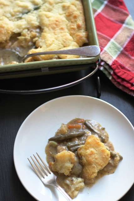 Turkey Potpie With A Biscuit Crust Recipe — Dishmaps