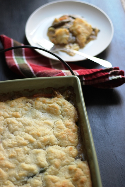 Turkey Pot Pie with Easy Biscuit Topping   Good Cheap Eats
