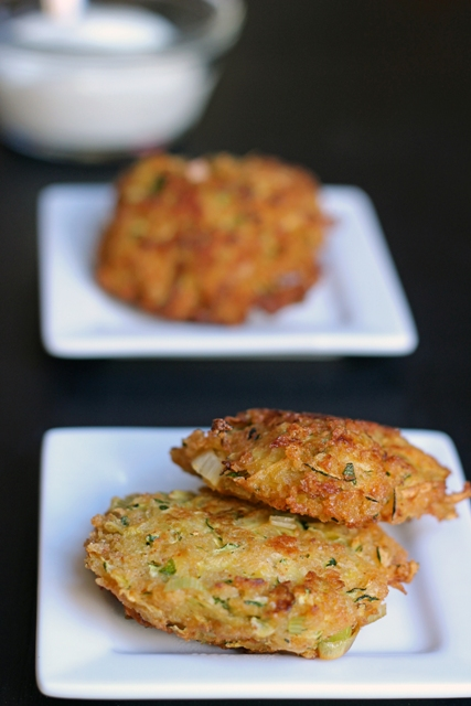 Zucchini Fritters for Dipping