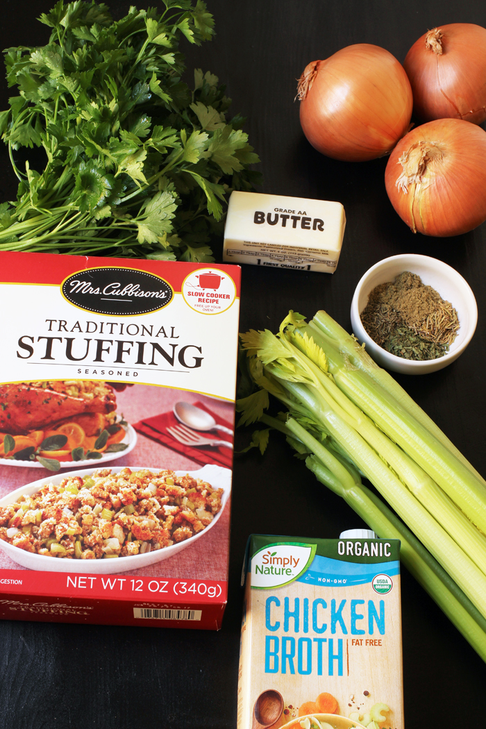 ingredients for herbed stuffing