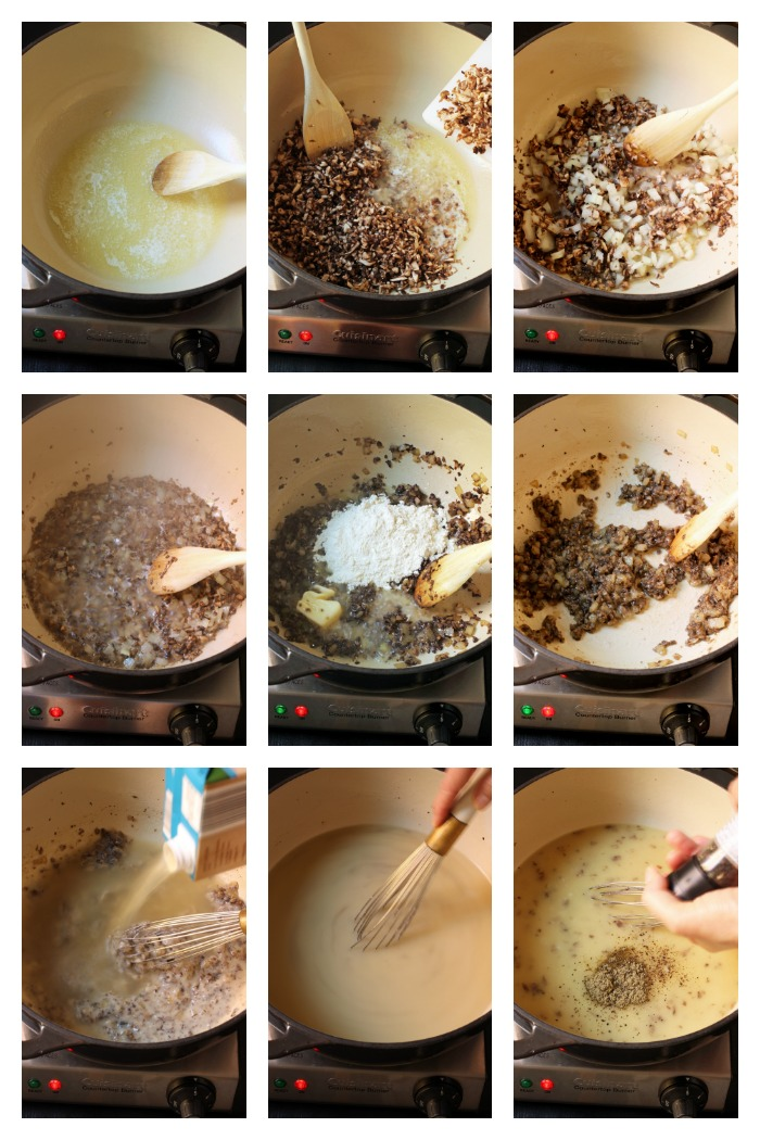 step by step photos of making gravy