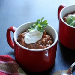 Slowcooker Chili in Mugs