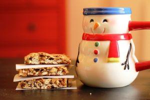 cookies and snowman mug